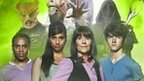 The Sarah Jane Adventures actors Daniel Anthony a.k.a. Clyde Langer, Tommy Knight a.k.a. Luke Smith, Elisabeth Sladen a.k.a. Sarah Jane Smith and Anjli Mohindra a.k.a. Rani Chandra.