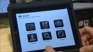 SIGN app on hand-held computer