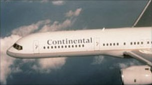 Continental Airlines aircraft