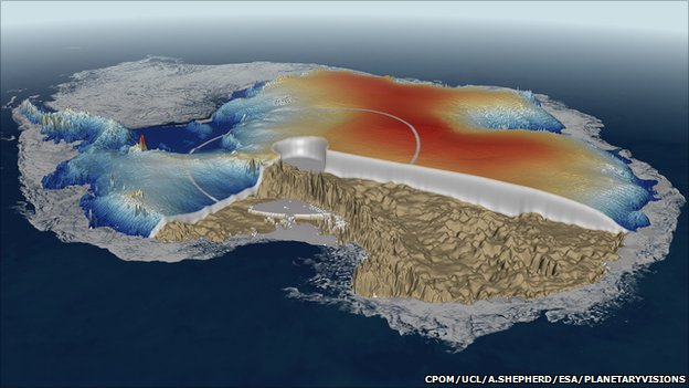 Antarctica (CPOM/UCL/A.Shepherd/Esa/Planetaryvisions)