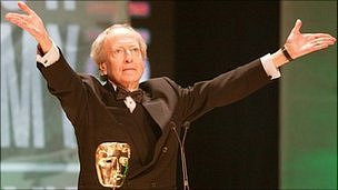 John Barry receiving his Bafta Fellowship in 2003