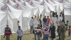 Refugees from Jisr al-Shughour in Turkey