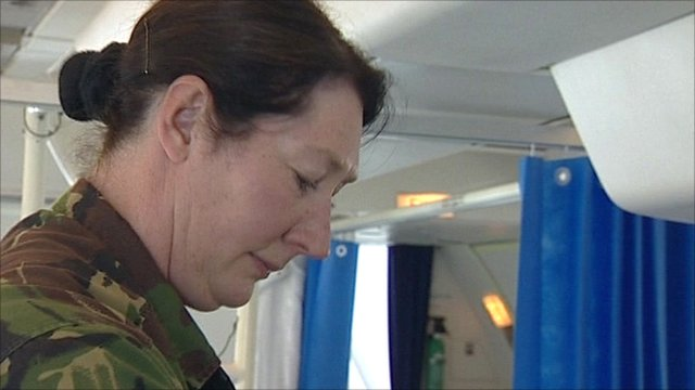 Julie Jones works with the Royal Auxiliary Air Force