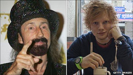 Arthur Brown (left) and Ed Sheeran