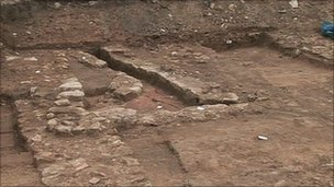 Roman excavation in York