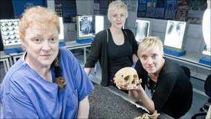 The Cold Case team: Professor Sue Black, Dr Xanthe Mallett and Professor Caroline Wilkinson