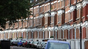 Residential street in London