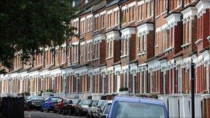 Residential street in London
