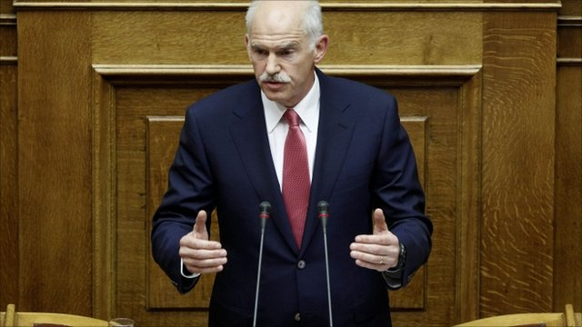 Greece's Prime Minister George Papandreou