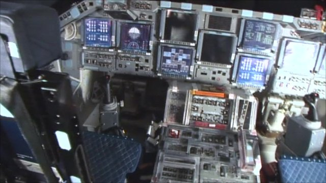 Discovery's flight control dashboard