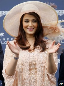 Aishwarya Rai at the Prix de Diane horse race, in Chantilly, West of Paris, in France on 12 June 2011