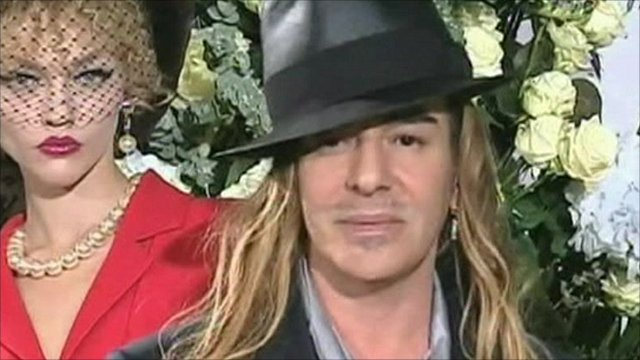 Fashion designer John Galliano