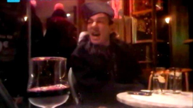 Mobile phone footage of John Galliano