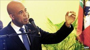 Haitian President Michel Martelly
