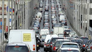 Traffic jam in Brussels - file pic