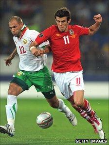 Gareth Bale (right) in a qualifier