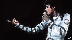 Michael Jackson during the Bad era