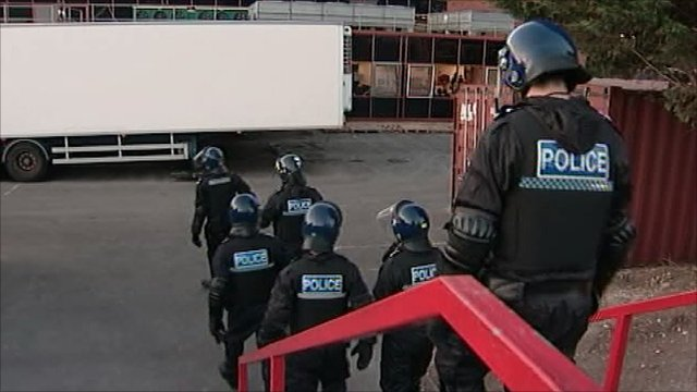 Immigration raid at Daventry factory