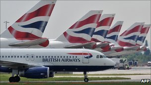 BA planes at Heathrow Airport