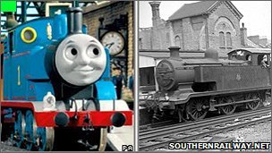 Thomas and the E2 class tank engine he is based on