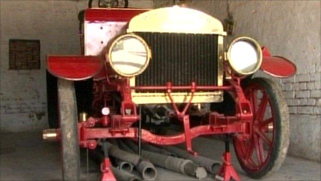 Old British fire engine