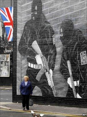 UVF mural on Newtownards Road, east Belfast.