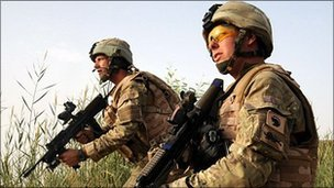 UK soldiers in Afghanistan