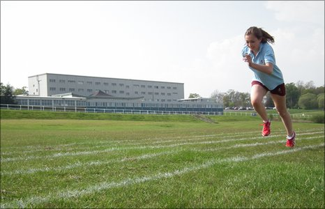Hamilton College student Ashleigh training to compete at the ICG in Lanarkshire