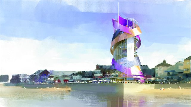 An artist's impression of the vertical pier