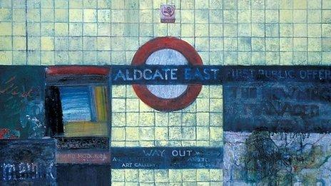Jock McFadyen Aldgate East 1, 1997 (c) the artist/Government Art Collection