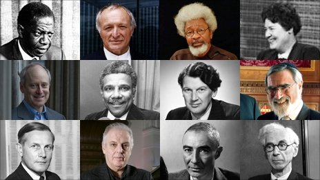 Montage of former Reith Lecturers TOP ROW (L-R): Robert Gardiner; Richard Rogers; Wole Soyinka; Margery Perham MIDDLE ROW (L-R): Michael Sandel; Ali Mazrui; John Zachary Young; Rabbi Jonathan Sacks; BOTTOM ROW (L-R): George Carstairs; Daniel Barenboim; J Robert Oppenheimer; Bertrand Russell