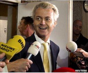 Geert Wilders leaves court in Amsterdam, 23 June