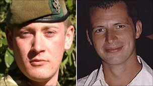Pte Gareth Bellingham and Craftsman Andrew Found