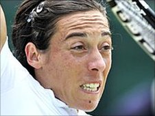 Francesca Schiavone in action