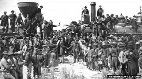 Chinese workers who worked on rail systems in the US in the 1800s