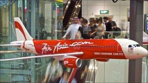 Air asia model plane