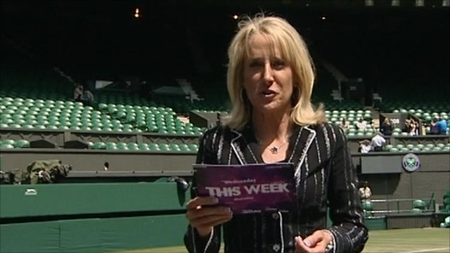 Tracy Austin at Wimbledon