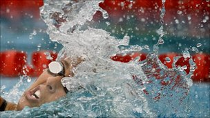 Swimmer Janet Evans