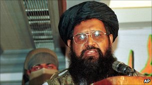 This July 20, 2001 file photo shows Fazle-ur-Rahman Khalil, commander of the Pakistan-based Islamic militant party Harkatul Mujahedeen