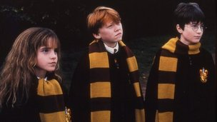 Emma Watson, Rupert Grint and Daniel Radcliffe in Harry Potter and the Philosopher's Stone