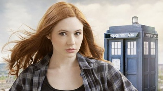 Dr Who actor Karen Gillan as Amy Pond