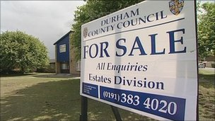 Care home and for sale sign