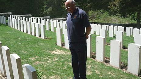 Andrew Martlew at the Magnaboschi British Cemetery