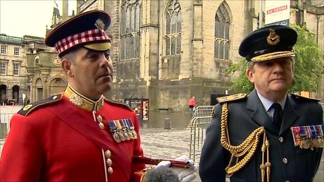 Major Graham White and Air Vice Marshall David Murray