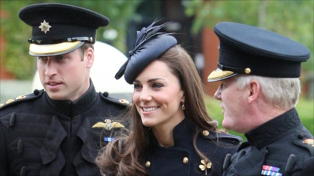 Duke and Duchess of Cambridge meet Major General Bill Cubitt