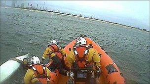 Redcar kayak rescue