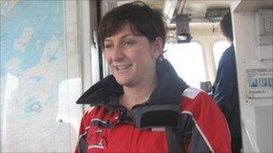 Flat Holm manager Natalie Taylor