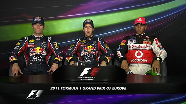 European Grand Prix - Top three drivers