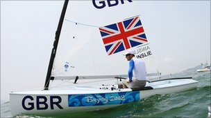 Ben Ainslie in action
