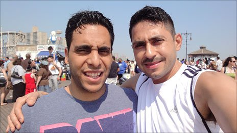 George Constantinou (left) and Farid Ali Lancheros
